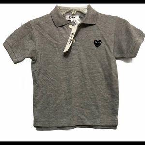 Comme Des Garcons PLAY Gray Polo Shirt